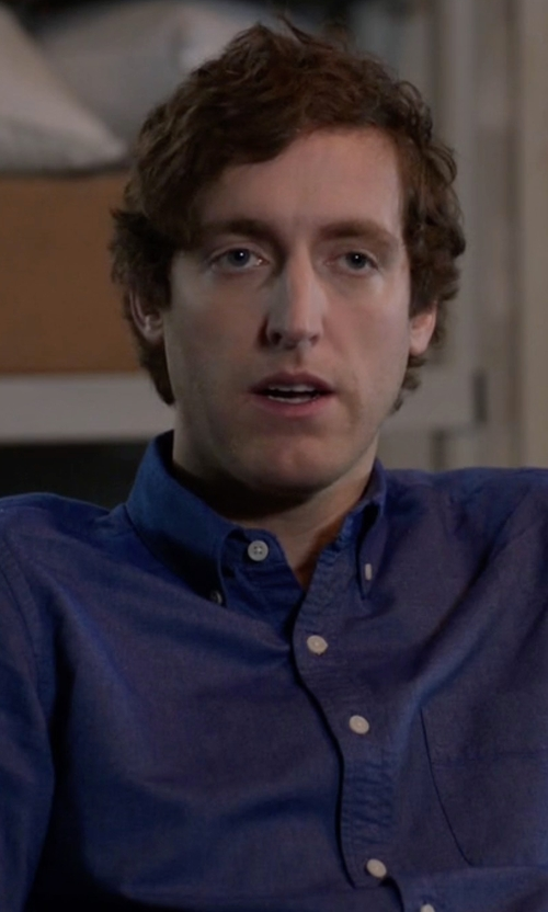 Thomas Middleditch with Polo Ralph Lauren Men's Slim-Fit Solid Dress Shirt in Silicon Valley