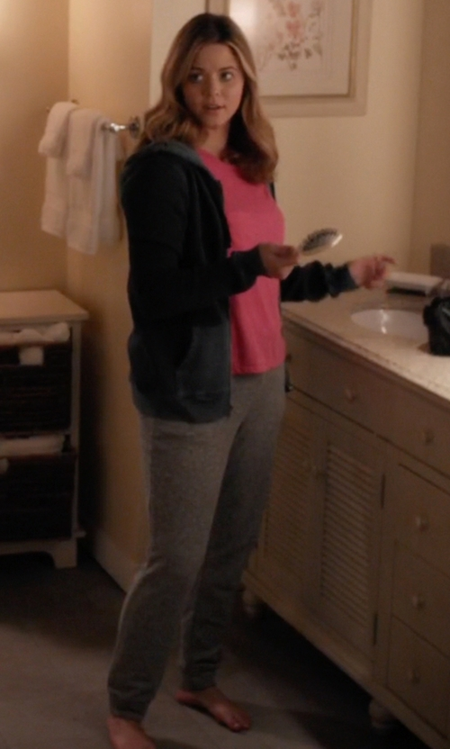 Sasha Pieterse with T by Alexandre Wang Nep French Terry Sweatpants in Pretty Little Liars