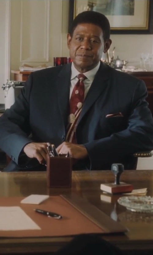 Forest Whitaker with Michael Kors Two-Piece Checked Suit in Lee Daniels' The Butler