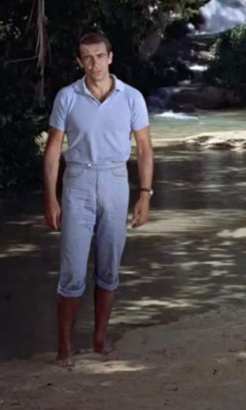 Sean Connery with Meltin Pot Light Wash Denim Pants in Dr. No