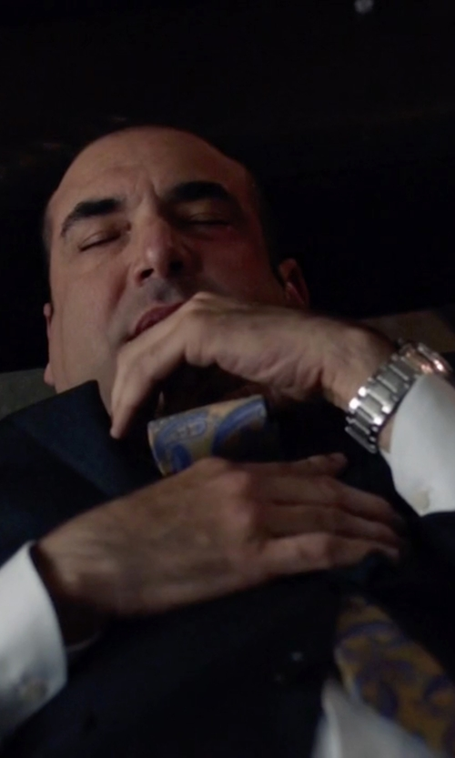 Rick Hoffman with Victorinox Swiss Army 'Chrono Classic' Bracelet Watch in Suits