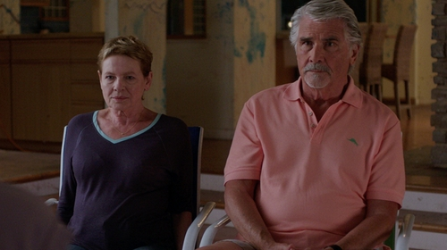 James Brolin with Tommy Bahama 'New Pebble Shore' Short Sleeve Polo Shirt in Sisters