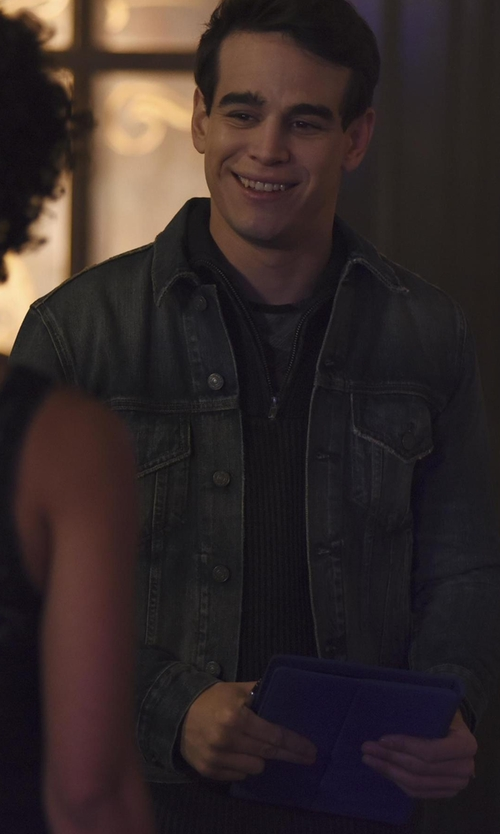 Alberto Rosende with All Saints Galion Denim Jacket in Shadowhunters