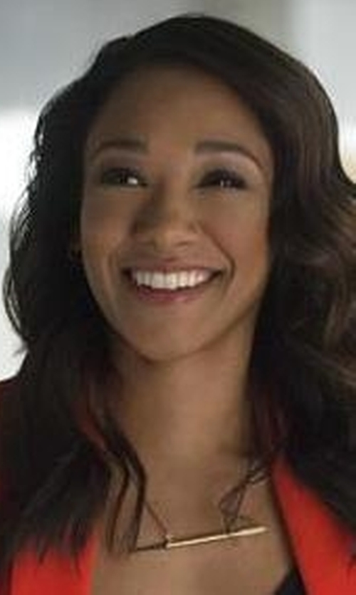 Candice Patton with Jennifer Zeuner Bar-Pendant Necklace in The Flash