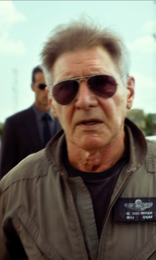 Harrison Ford with Publish Brand Burne Elongated Crewneck T-Shirt in The Expendables 3