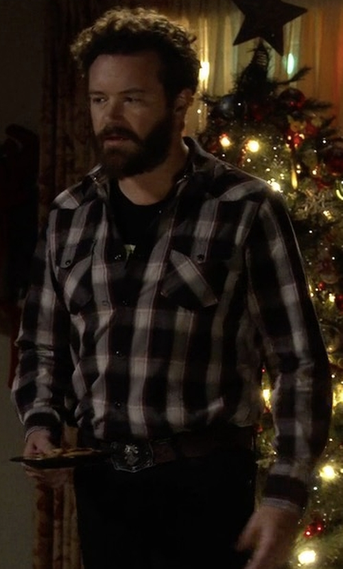Danny Masterson with Stussy Norfolk Plaid Button Down Shirt in The Ranch
