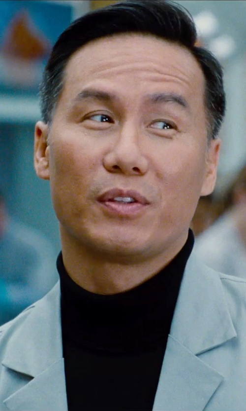 BD Wong with Brooks Brothers Cashmere Turtleneck Sweater in Jurassic World