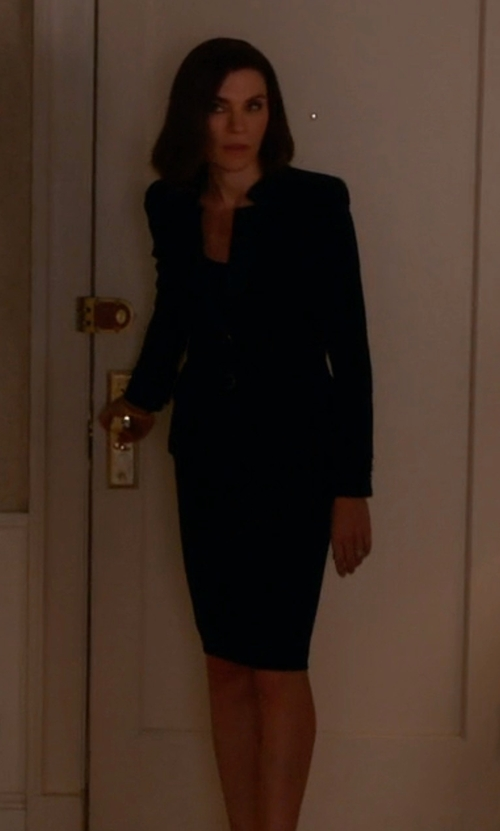 Julianna Margulies with St. John Collection	 Nouveau Boucle Knit Pencil Skirt in The Good Wife