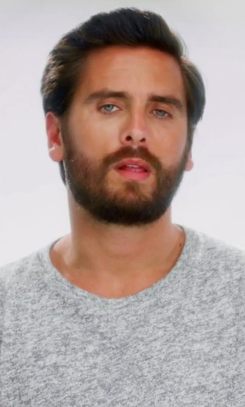 Scott Disick with John Elliott Classic Crew Neck Tee Shirt in Keeping Up With The Kardashians