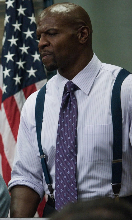 Terry Crews with Todd Snyder White Label Medallion Silk Tie in Brooklyn Nine-Nine