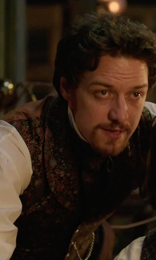 James McAvoy with Thomas Pink Kingsford Plain Classic Fit Button Cuff Shirt in Victor Frankenstein