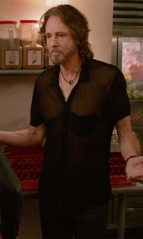 Rick Springfield with Marni Sheer Shirt in Ricki and the Flash