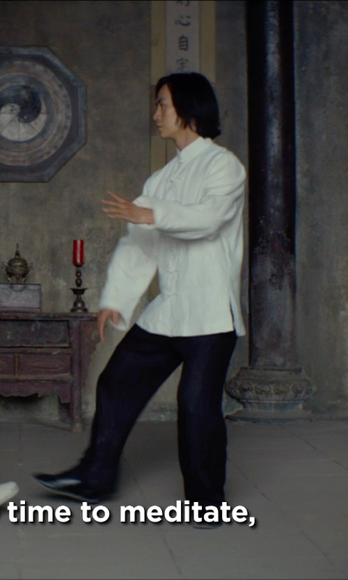 Tiger Hu Chen with Asia Sale Commoner Chinese Tai Chi Kung Fu Pants in Man of Tai Chi