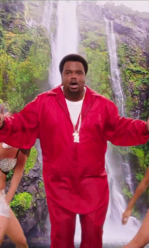 Craig Robinson with Fila Ferrari Velour Men's Tracksuit in Hot Tub Time Machine 2