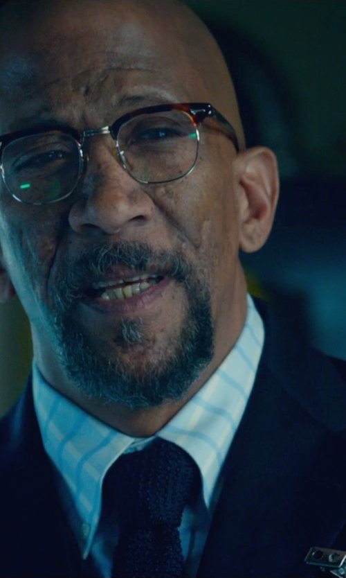 Reg E. Cathey with Boss Hugo Boss 'Huge/Genius' Trim Fit Navy Wool Suit in Fantastic Four