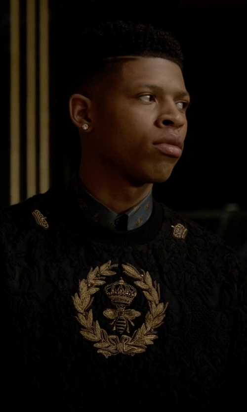 Bryshere Y. Gray with Dolce & Gabbana Crown Print Cotton Shirt in Empire