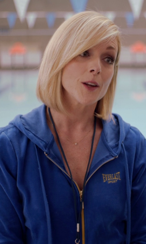 Jane Krakowski with Everlast Zip Front Hooded Fleece Athletic Jacket in Adult Beginners