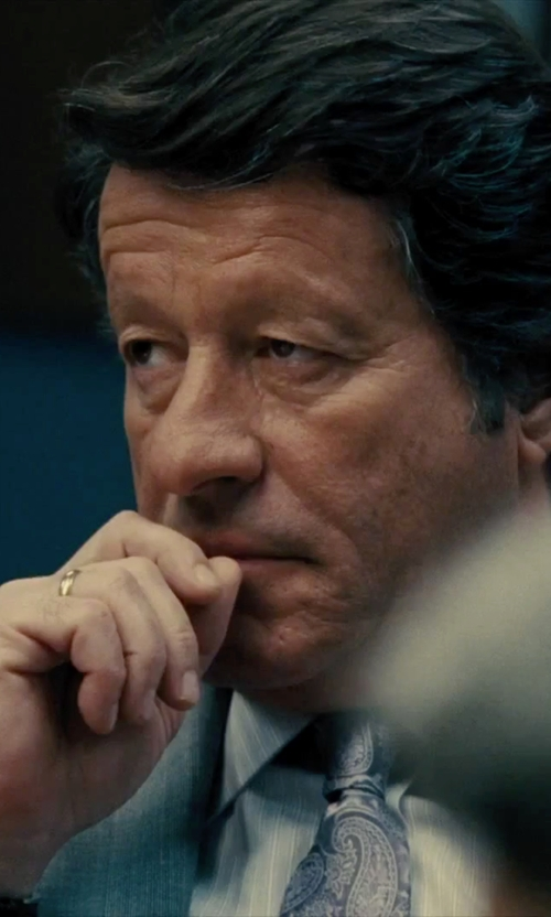 Joaquim de Almeida with Tiffany and Co. Lucida Wedding Band Ring in Our Brand Is Crisis