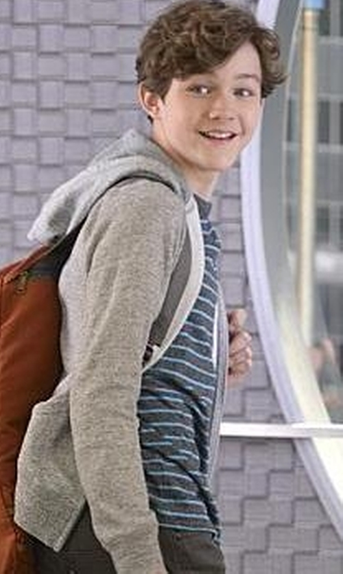 Levi Miller with J. Crew Pocket T-Shirt in Supergirl