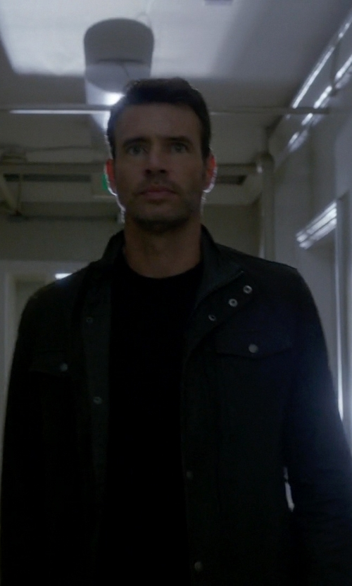 Scott Foley with Hugo 'Brikon' Button Front Jacket in Scandal