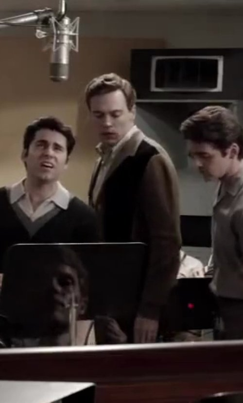 Erich Bergen with WESC Cardigan in Jersey Boys