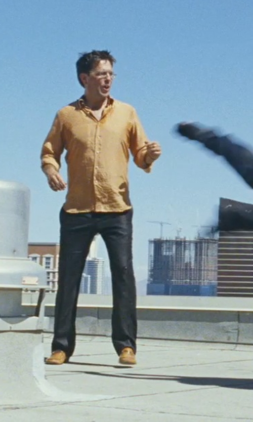 Ed Helms with Cole Haan Kilgore Apron Toe Oxford Shoes in The Hangover