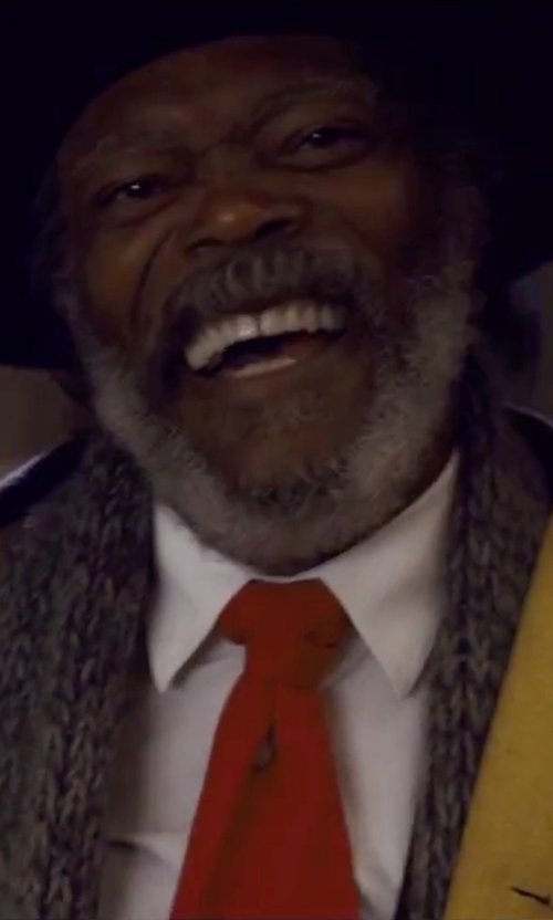 Samuel L. Jackson with Fendi Solid Woven Sportshirt in The Hateful Eight