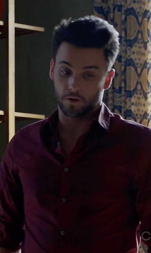 Jack Falahee with John Varvatos Star USA Slim Fit Solid Dress Shirt in How To Get Away With Murder