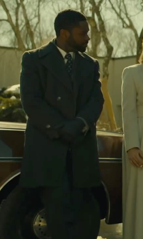 David Oyelowo with Burberry Double Breasted Coat in A Most Violent Year