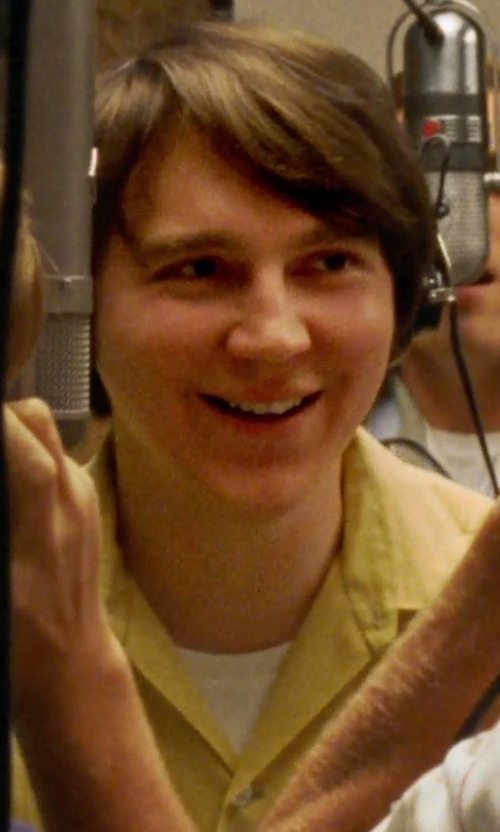 Paul Dano with Valentino Crew Neck T-Shirt in Love & Mercy