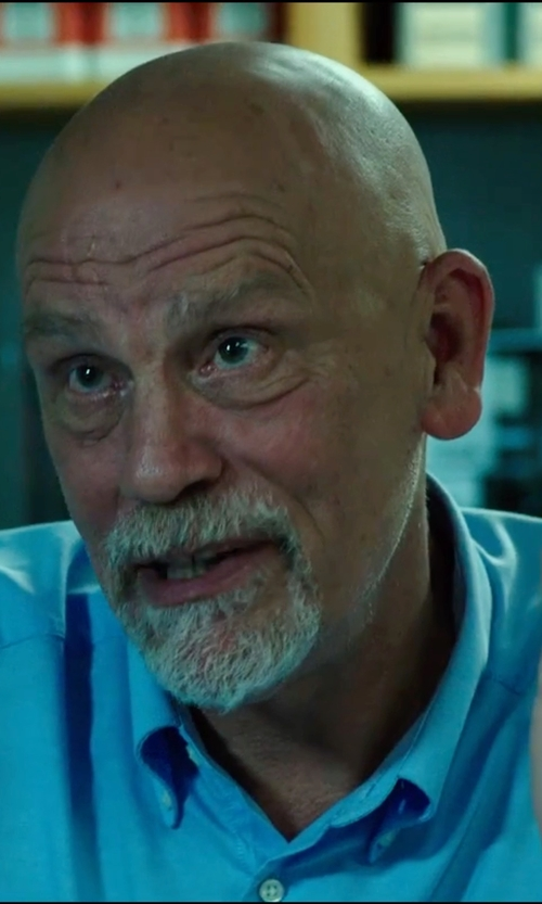 John Malkovich with Lands' End Men's Tailored Royal Oxford Button Down Dress Shirt in Deepwater Horizon