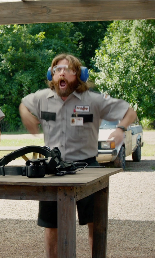 Zach Galifianakis with Security Pro Ultra Force Police Duty Belt in Masterminds