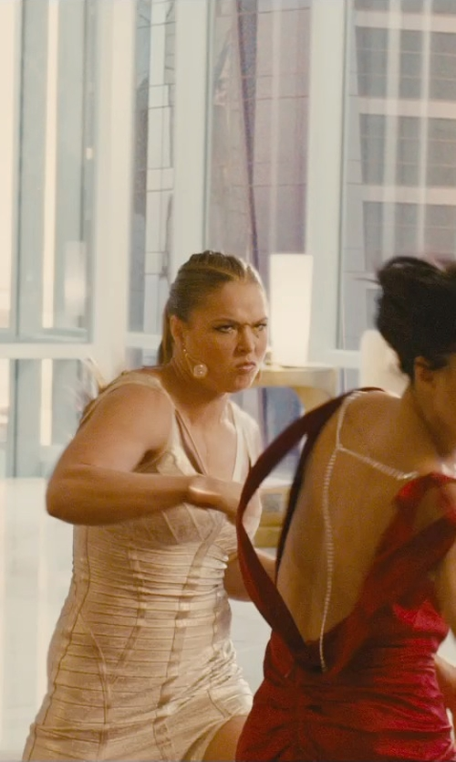 Ronda Rousey with Gurhan Open Leaf Drop Earrings in Furious 7