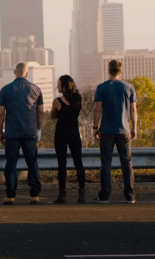 Michelle Rodriguez with Golden Goose Ankle Boots in Furious 7