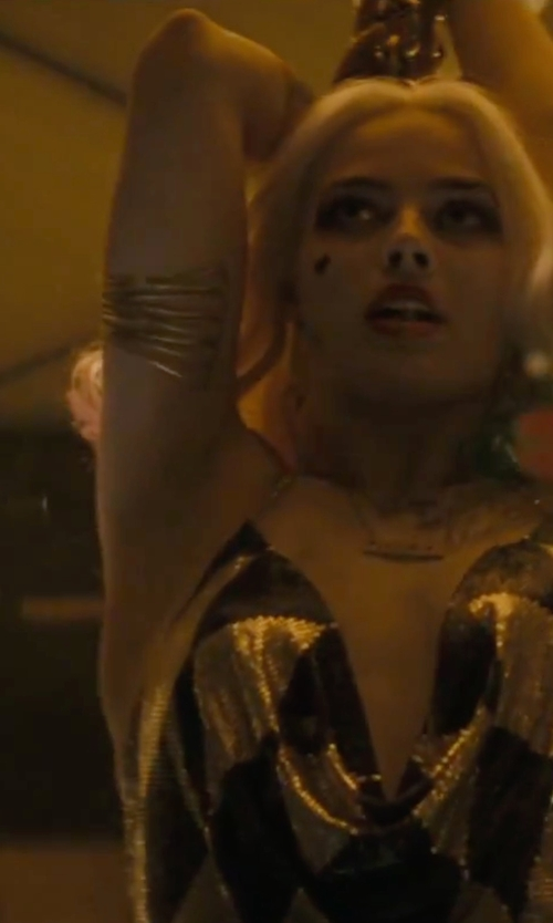 Margot Robbie with Free People Women's Metallic Metal Upper Armband in Suicide Squad