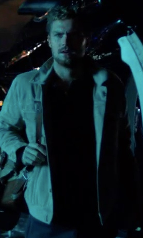 Finn Jones with Vince Heavy Slub Henley Shirt in Marvel's The Defenders