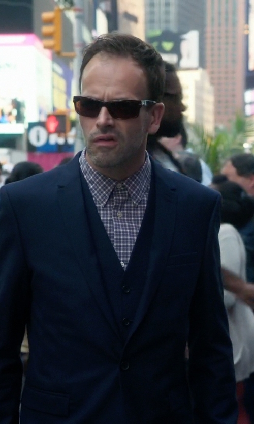 Jonny Lee Miller with Persol PO2803S 58 Sunglasses in Elementary