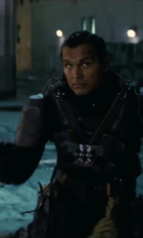 Adam Beach with Kate Hawley (Costume Designer) Custom Made Slip Knot Costume in Suicide Squad