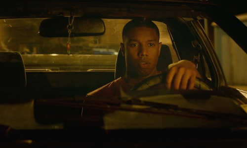 Michael B. Jordan with Toyota 1988 MR2 Coupe in Fantastic Four