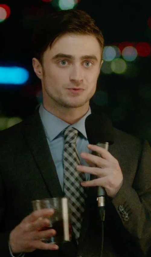 Daniel Radcliffe with Lanvin Checked Tie in What If