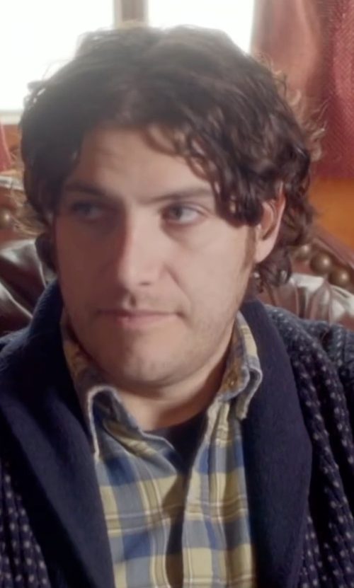 Adam Pally  with Rag & Bone Avery Shawl Cardigan in Joshy
