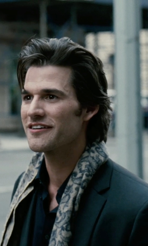 Johnny Whitworth with Etro Paisley Wool Blend Scarf in Limitless