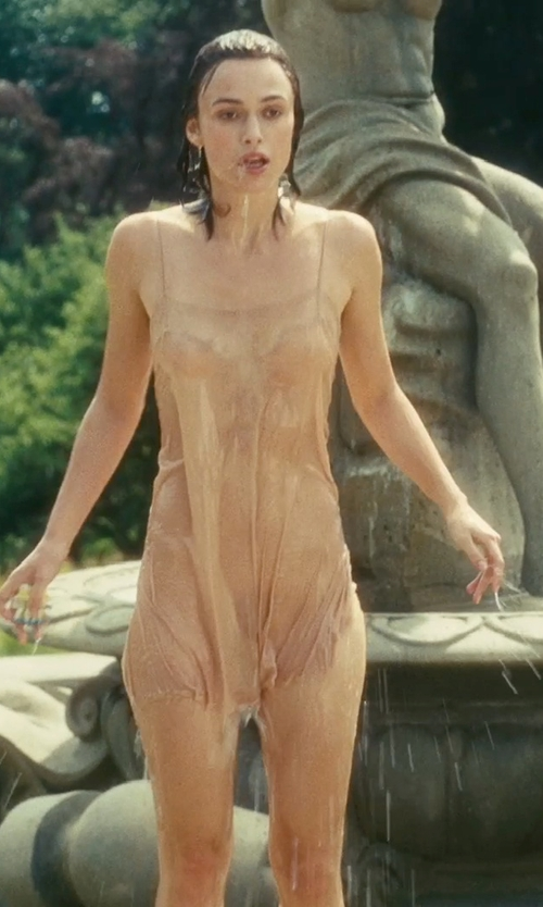 Keira Knightley with Jacqueline Durran (Costume Designer) Custom Made Silk Camisole in Atonement