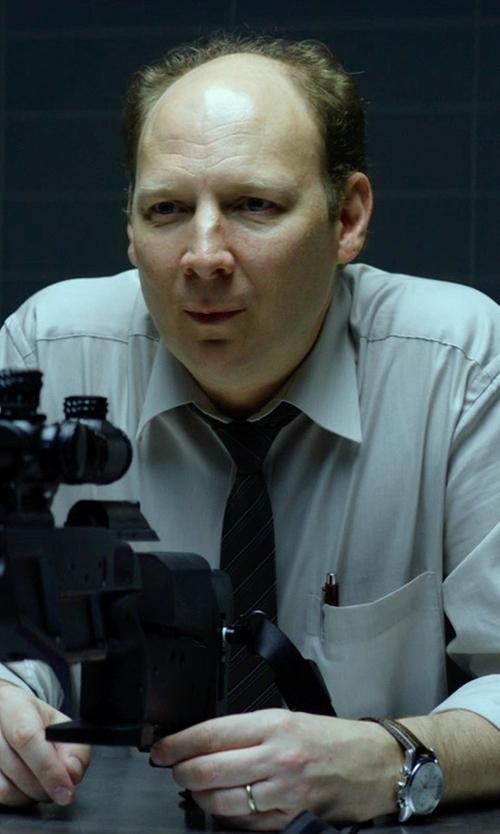 Dan Bakkedahl with Tommy Hilfiger Multi Eye Leather Strap Watch in Hitman: Agent 47