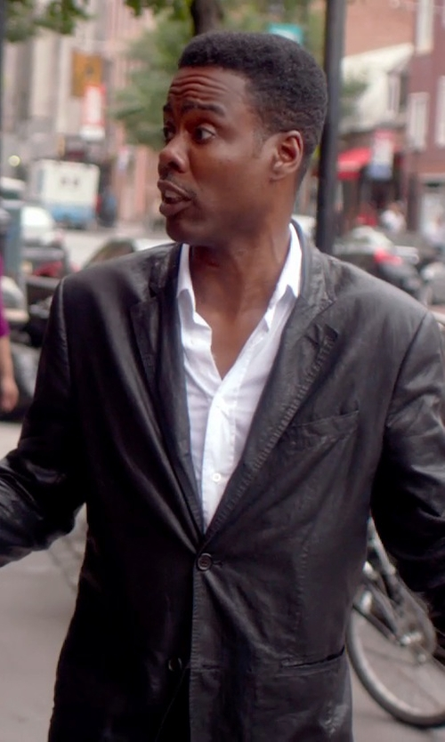 Chris Rock with Isaac Mizrahi Slim-Fit Twill Solid Dress Shirt in Top Five