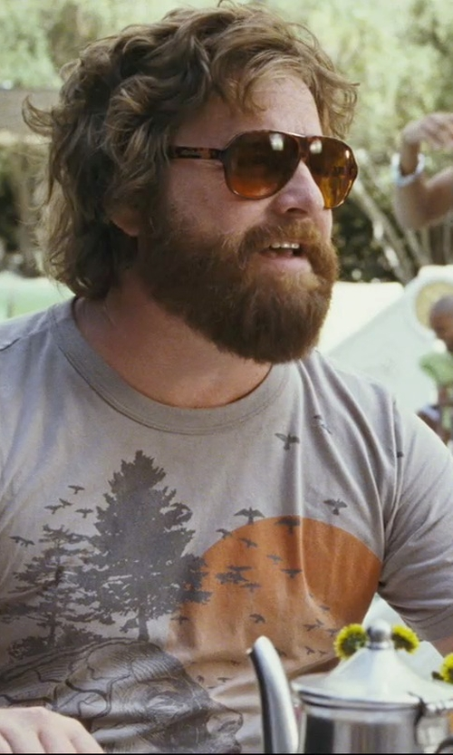 Zach Galifianakis with Junk Food Human Tree Tee Shirt in The Hangover