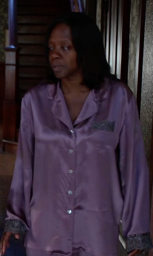 Viola Davis with Julianna Rae Sleep-In-Silk Pajama in How To Get Away With Murder