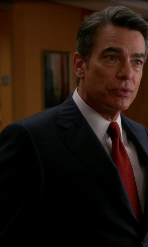 Peter Gallagher with Hart Schaffner Marx 'New York' Classic Fit Wool Suit in The Good Wife