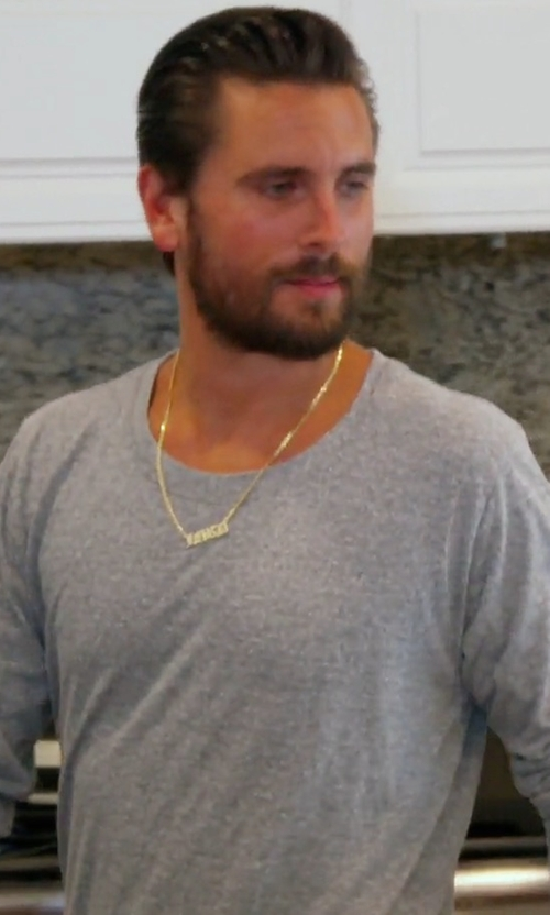 Scott Disick with John Elliott Mercer Long-Sleeved Tee Shirt in Keeping Up With The Kardashians