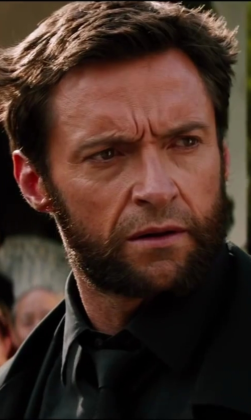 Hugh Jackman with Tommy Hilfiger Solid Brights Tie in The Wolverine